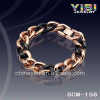 Black Gold Stainless Steel Bracelet;Hand Chain for Mens staineless Steel Bracelet