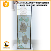 stained glass brass came glass panels outdoor