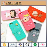 high quality custom cute cartoon silicone mobile phone cover
