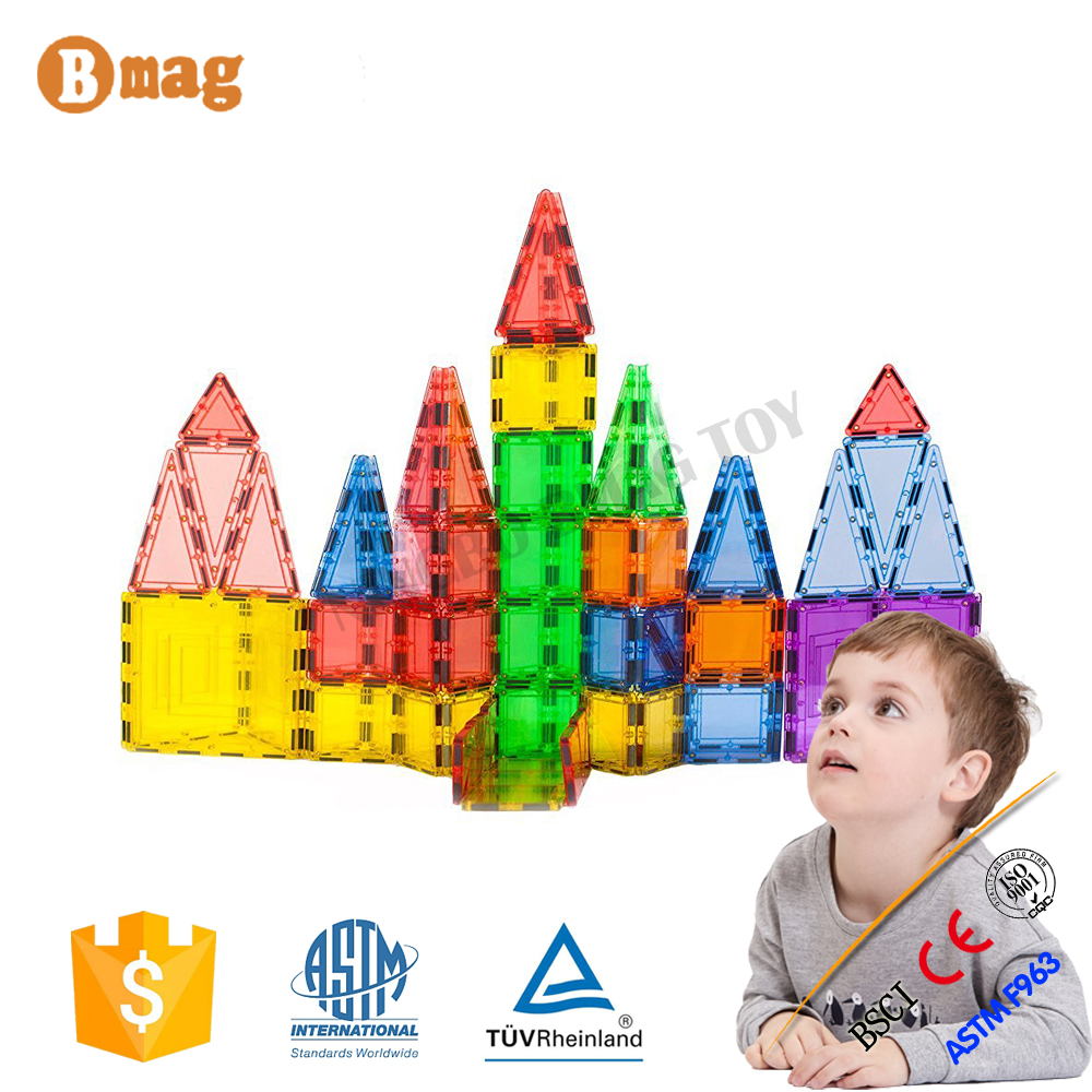 110 pieces magnetic tiles building block toys for baby