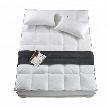 Wholesale stitching home and hotel king size quilted fitted pad goose feathers mattress topper - Jozy Mattress | Jozy.net