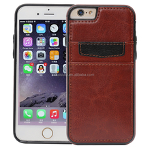 Wholesale flip wallet phone case with card holder mobile phone case for iphone 6 /6 plus