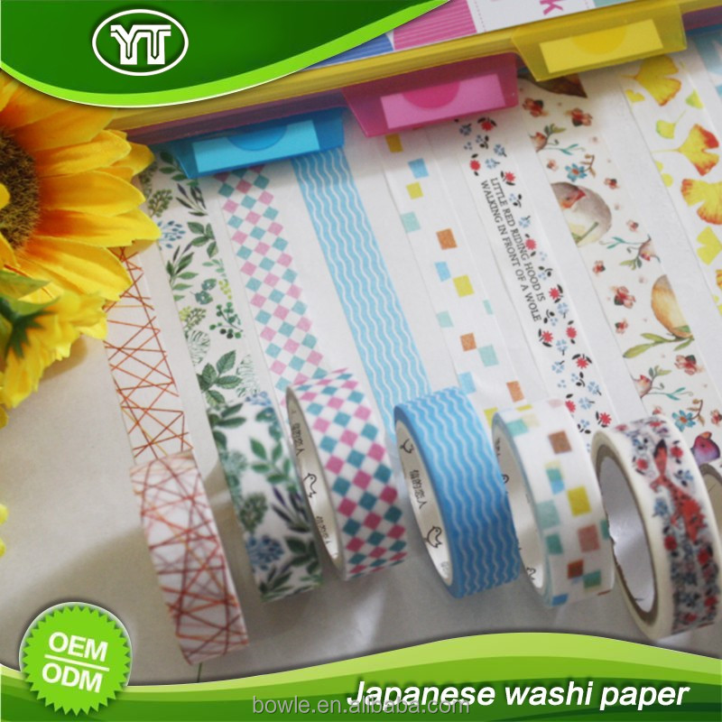 Cute custom printing washi paper tape for gift wrapping,decoration