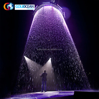 New Design LED Light Waterfall Fountain Outdoor Water Wall