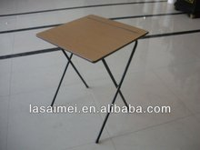 Hot selling school folding metal legs / wooden top study desk