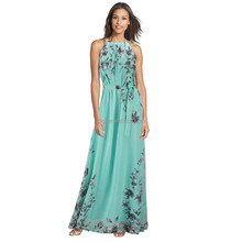 Diqi Apparel Plus size Fashion Flora Printing Maxi Dress Long Chiffon Sundresses Fashion Summer Style Women Dresses