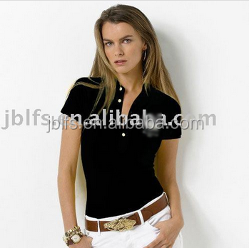 Free Shipping 50PCS from the sale, free embroidery LOGO processing of a woman's brand polo t-shirt