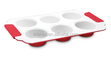 Ceramic Coating Muffin Pan With Silicone Handle