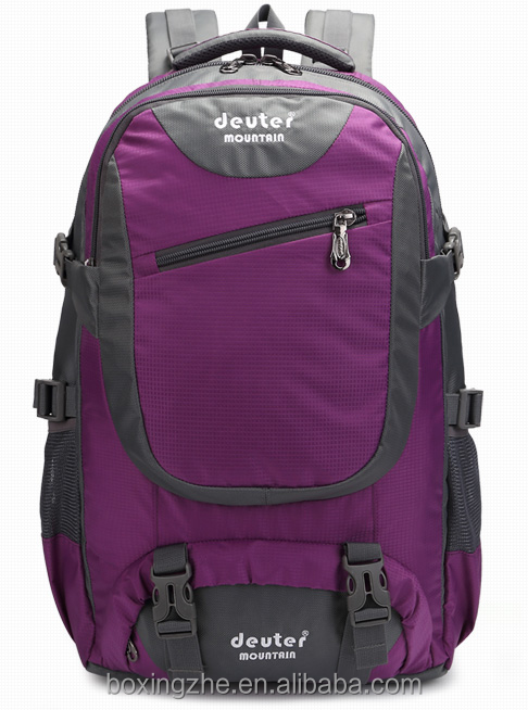 Latest leisure unisex fancy camping custom hiking backpack