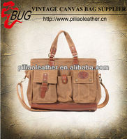 BUG 2013 new vintage canvas tote bag/ handbag manufacture wholesale in guangzhou