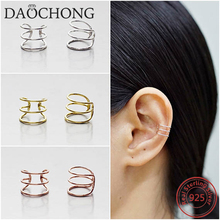 Clip On Earrings No Piercing Cartilage Ear Jewelry 925 Sterling Silver Ear Cuff Earring