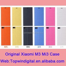 2014 Newest Product Original Xiaomi PU Leather Flip Case For Xiaomi Mi3 Cover