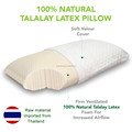 Premium Natural 100% Talalay Latex Bed Pillow