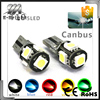 High brightness 3 chips Error Free Slim 12v Canbus pro ballast HID xenon kit T10 5SMD 5050 led canbus