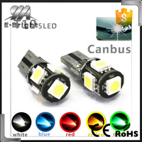 High brightness 5 chips Error Free Slim 12v Canbus pro ballast HID xenon kit T10 5SMD 5050 led canbus