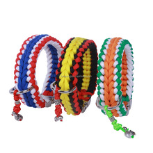 2018 World Cup National Flag Series Quality Dog Collar Paracord Pet Collars and Leashes Set for Medium Dogs