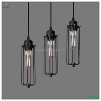 industrial lamp contemporary lighting Loft Hanging tube light LED Pendant Light vintage