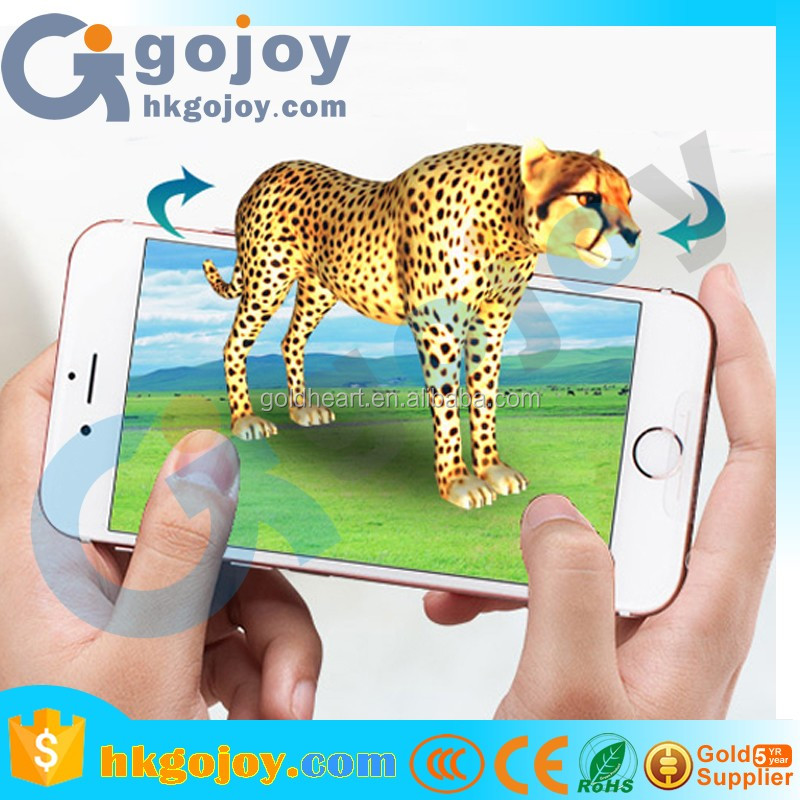 Magic Pocket Zoo 3D Animal AR Stereo Cards Kids Early Education 100Pcs/Set Cartoon Intelligence Toys Educational Toy For Chirld