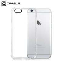 CAFELE Luxury Case Transparent Soft TPU Silicon Cover Mobile Case with Shockproof Cushion for Apple iphone 6/6Plus