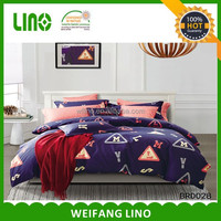 2016 latest design bed sheets 100% cotton bedding sets 4pcs