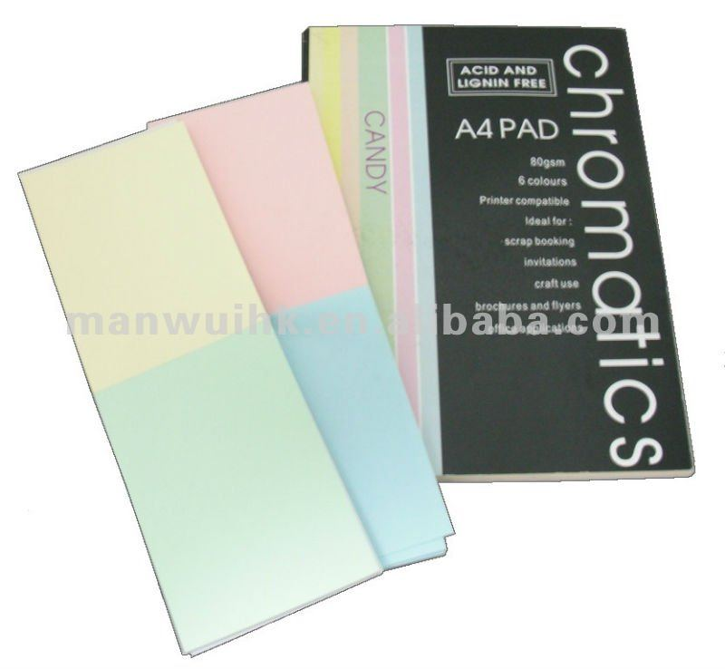 JC128C-96 A4 Size Creamy Colour Paper Writing Pad