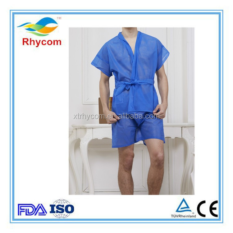 High quality and various color non woven long disposable sauna suit
