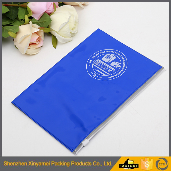 Waterproof clear vinyl pvc mini zipper pouch branded logo clear zipper vinyl pouch with logo print