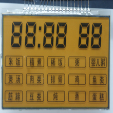 Monochrome touch lcd screen glass,custom TN Positive segment Lcd display for Electric Pressure Cooker