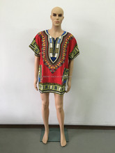 Wholesale 2016 New Fashion Design Traditional African Clothing Print 100% Cotton Dashiki T shirt For Men