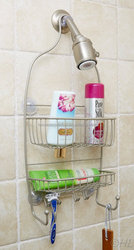Laundry Shower Caddy and bathroom shower rack, Rust Proof, Stain