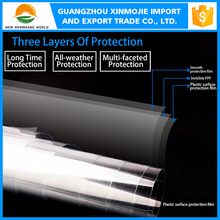 3 layers transparent PVC car paint protective film for car body