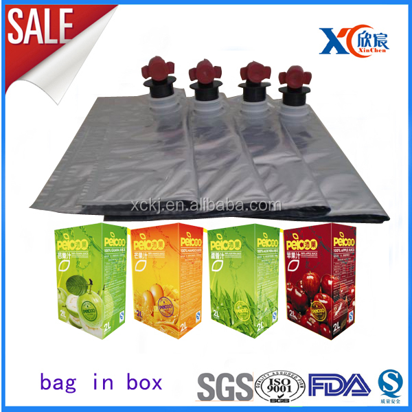 Newest butterfly valve 5 Liter guava juice bag in box agricuture packaging bag