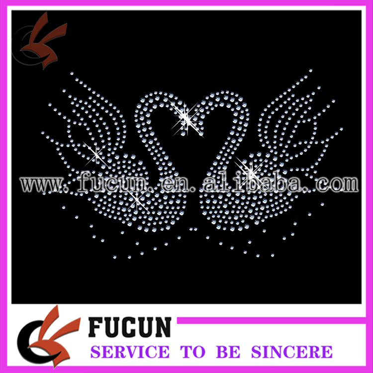 new design hot-fix rhinestone transfer motif ,iron on transfer,heat motif