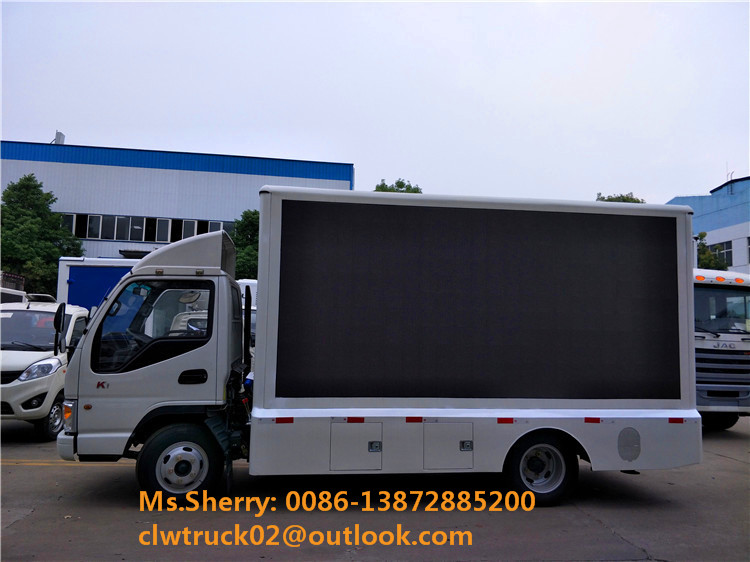 China popular JAC 4*2 mobile led truck for outdoor vedio display
