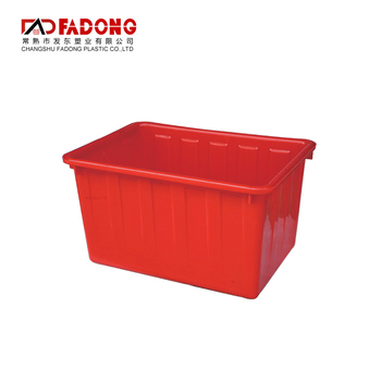Recyclable water plastic storage turnover box