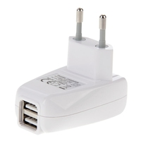 Alibaba Wholesale Price 2 Ports 5V USB Charger Adapter for iPhone EU Plug