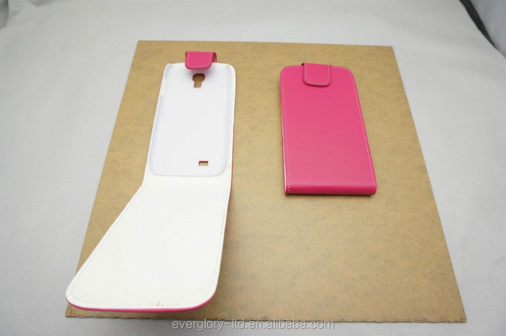 Top quality of Official Side-open Leather Case for Samsung S4