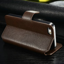 CaseMall CaseMe Leather Book Case For iPhone5,For iPhone 5s 5 real leather wallet case CaseMe-IP5-001