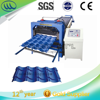 Automatic Steel Tile Roll Forming Machine in guangzhou