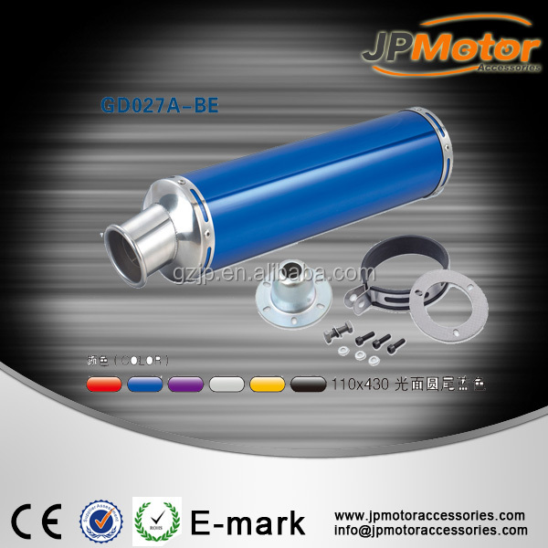 Aluminum exhaust muffler for motorcycle and scooter motorbike 500cc