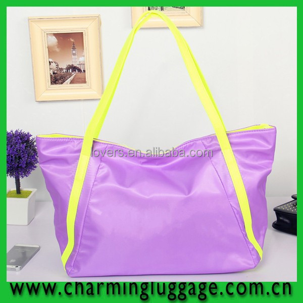 2016 Online Shopping Classical Tote Nylon Beach Bag