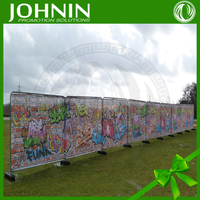 high quality cheap Custom sublimation printing 1.5m width 110g/m2 outdoor advertising sport Mesh fence banner