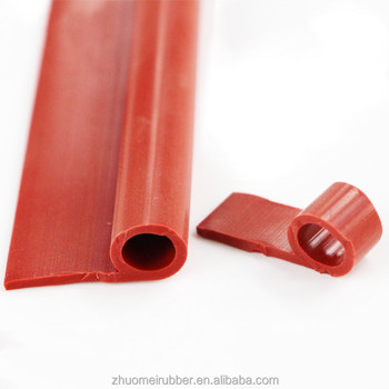 High performance silicone P section strip