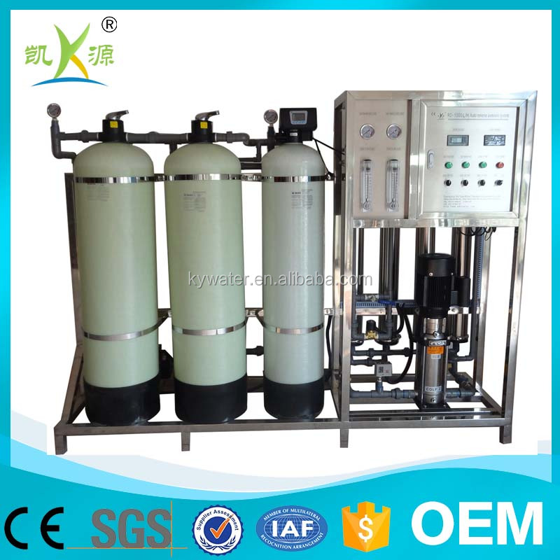 Full automatic 1000L/h ro water purification system for drinking water