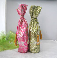2015 high quality Chinese Cheap Bright Silk Brocade satin Fabric packing bags for gift
