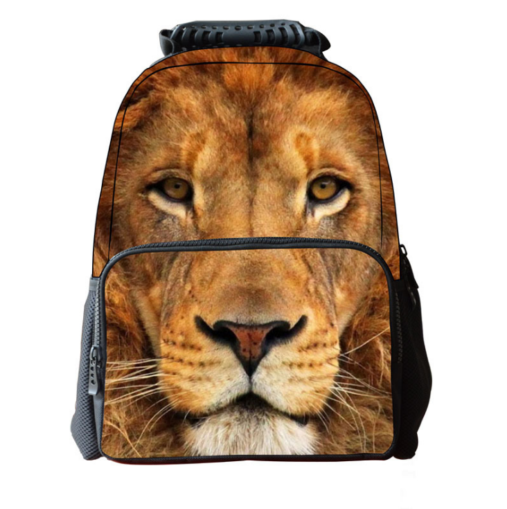 2017 Cute animal head outdoor backpack youth personality 3D backpack