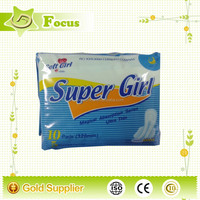 sunny girl sex sanitary napkin/pads with non-woven,free sample of sanitary napkin