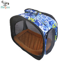 Durable Canvas Puppy Carrier Bags Breathable Mesh Dog Handbags For Outdoor Travel