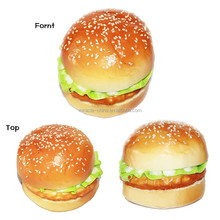 New design Artificial hamburger with sesame for display