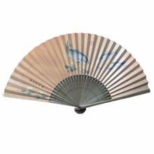 Chinese double paper bamboo Hand Fan